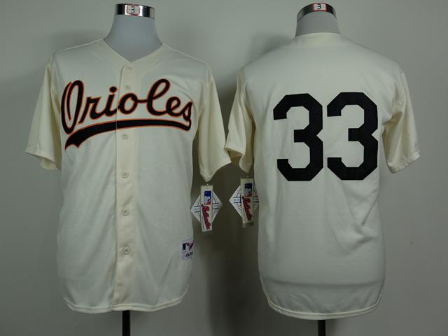 MLB Baltimore Orilies 33 Eddie Murray Gream 1954 Turn The Clock Jersey