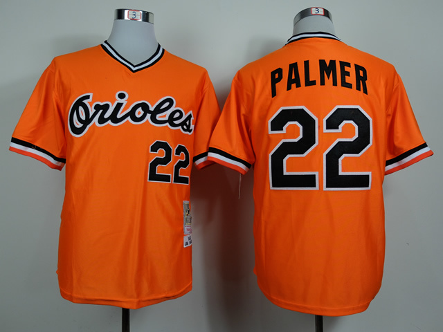 MLB Baltimore Orioles 22 Palmer Orange 1982 Jerseys