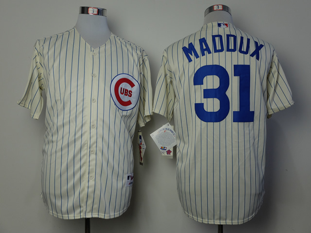 MLB Chicago Cubs 31 Greg Maddux Gream 1969 Turn The Clock Jersey