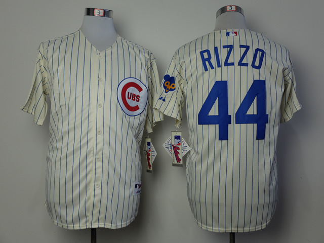 MLB Chicago Cubs 44 Anthony Rizzo Gream 1969 Turn The Clock Jersey