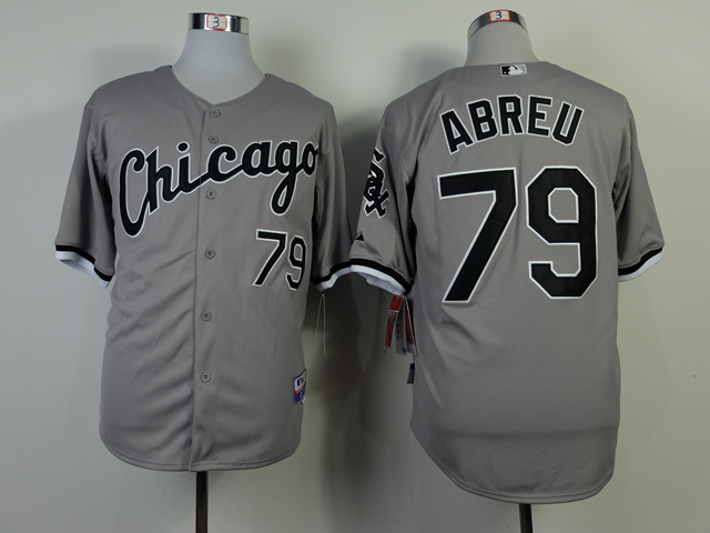 MLB Chicago White Sox 79 Jose Abreu Gray 2014 Jerseys