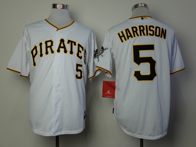MLB Pittsburgh Pirates 5 Josh Harrison White 2014 Jerseys