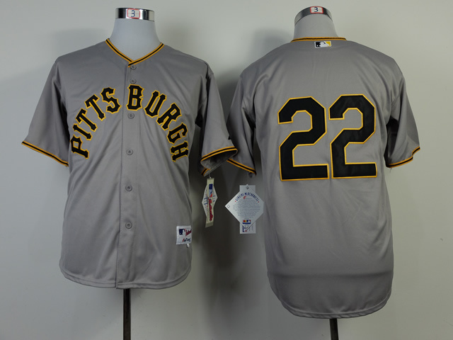 MLB Pittsburgh Pirates 22 Andrew McCutchen Grey 1953 Turn Back The Clock Jersey