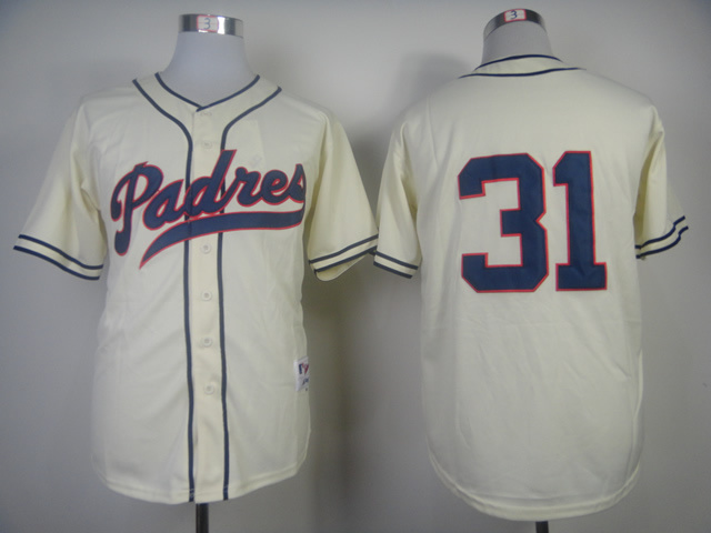 MLB San Diego Padres 31 Dave Winfield Cream 1948 Turn Back The Clock