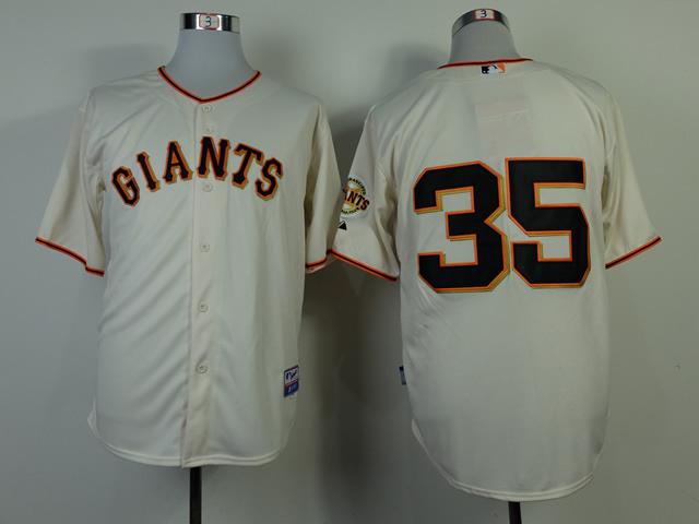 MLB San Francisco Giants 35 Brandon Crawford Cream 2014 Jerseys