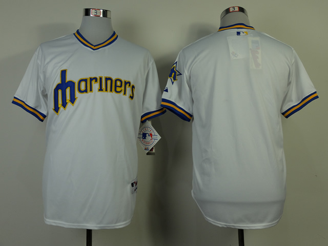 MLB Seattle Mariners Blank White 1979 Turn Jerseys
