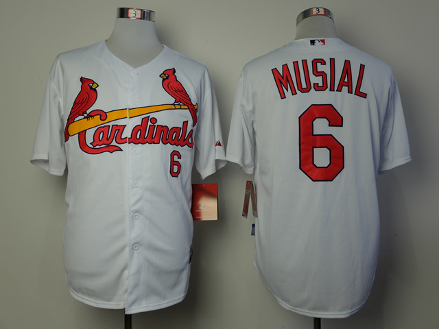 MLB St. Louis Cardinals 6 Musial White 2014 Jerseys