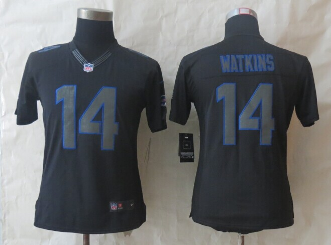 Womens Buffalo Bills 14 Watkins New Nike Impact Limited Black Jerseys