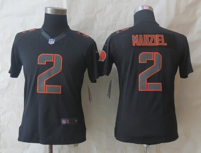 Womens Cleveland Browns 2 Manziel Nike Impact Limited Black Jerseys