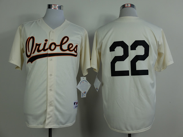 MLB Baltimore Orioles 22 Jim Palmer Gream 1954 Turn The Clock Jersey