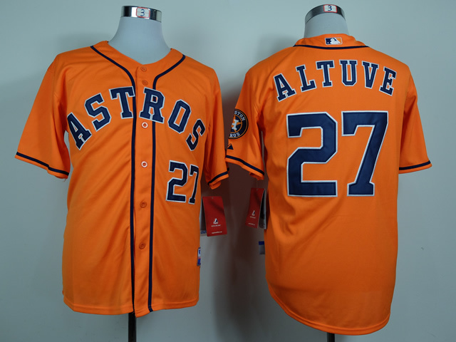 MLB Houston Astros 27 Jose Altuve Orange 2014 Jerseys