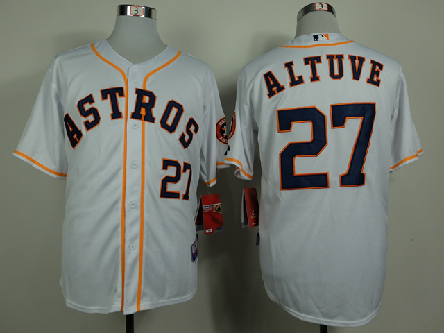 MLB Houston Astros 27 Jose Altuve White 2014 Jerseys