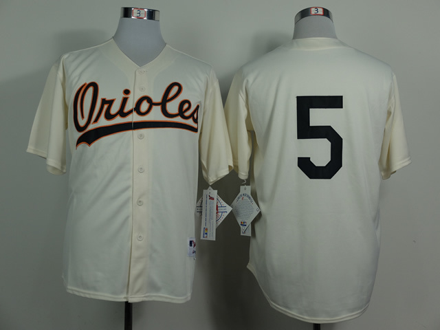 MLB Baltimore Orioles 5 Brobinson Gream 1954 Turn The Clock Jersey