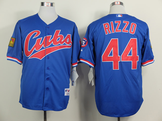 MLB Chicago Cubs 44 Anthony Rizzo Blue 1994 Turn The Clock Jersey