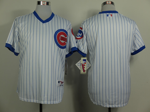MLB Chicago Cubs Blank White Pinstripe 1988 Turn The Clock Jersey