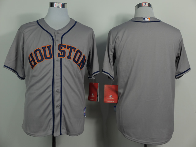 MLB Houston Astros Blank Grey 2014 Jerseys