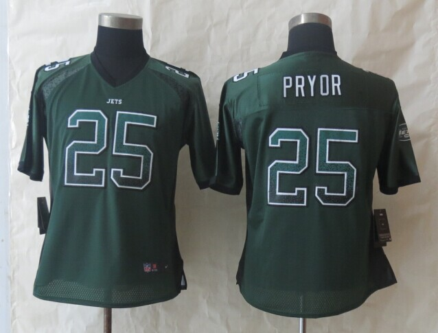Womens New York Jets 25 Pryor Drift Fashion Green 2014 New Nike Elite Jerseys