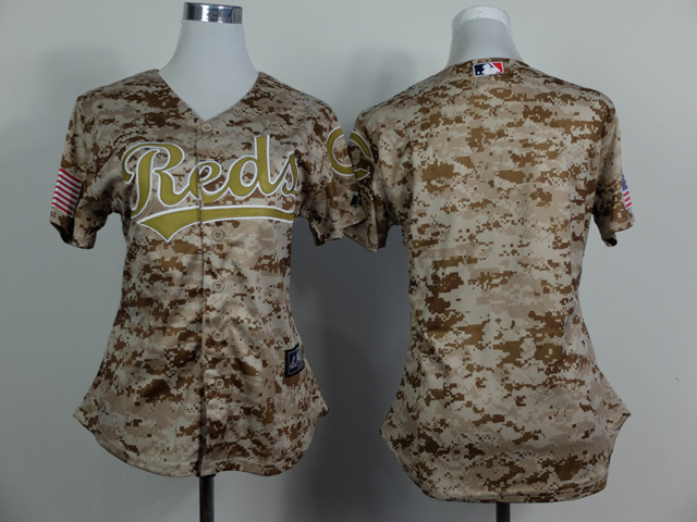 Womens MLB Cincinnati Reds Blank No Name 2014 Camo Jersey
