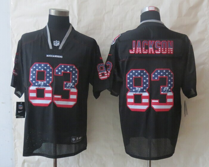 2014 New Nike Tampa Bay Buccaneers 83 Jackson USA Flag Fashion Black Elite Jerseys