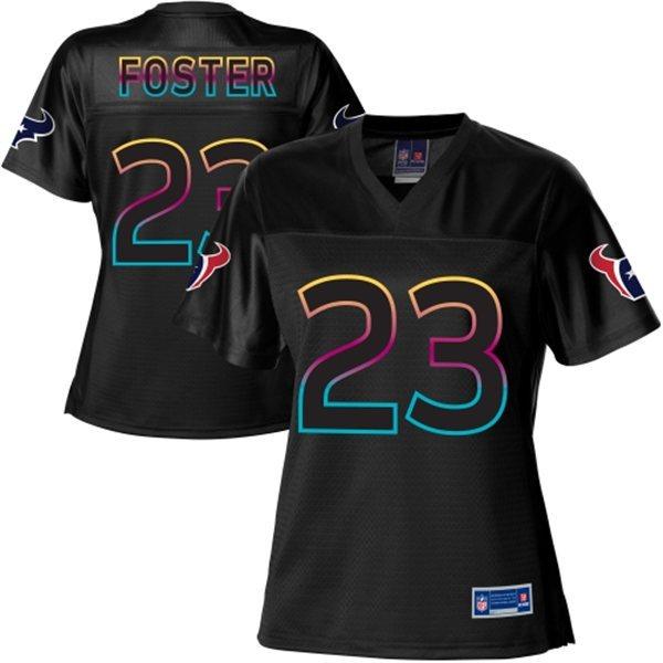 NFL Nike Pro Line Women's Houston Texans 23 Arian Foster Fashion Black Jersey