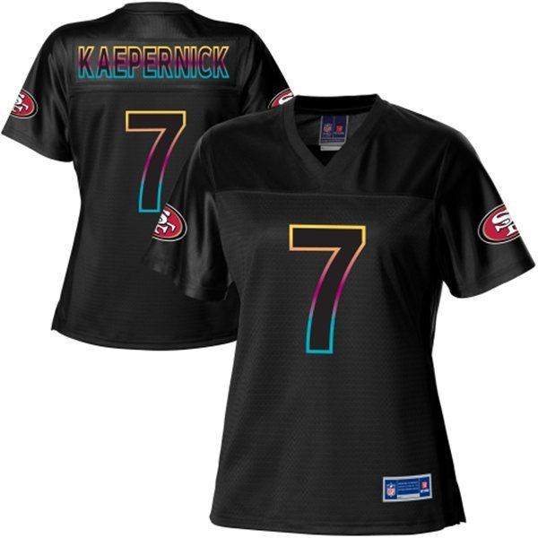 NFL Nike Pro Line Women's San Francisco 49ers 7 Colin Kaepernick Fashion Black Jersey