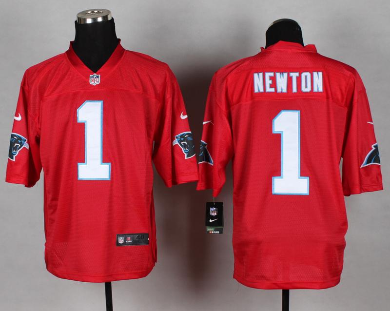 Carolina Panthers 1 Cam Newton red 2014 nfl QB Nike Jerseys