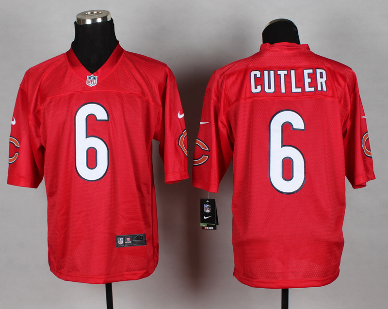 Chicago Bears 6 Jay Cutler red 2014 nfl QB Nike Jerseys