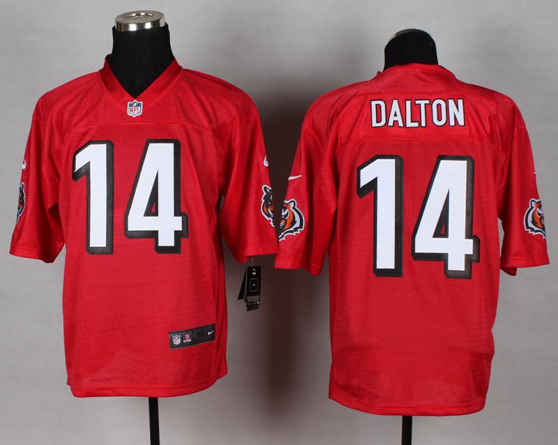 Cincinnati Bengals 14 Andy Dalton red 2014 nfl QB Nike Jerseys