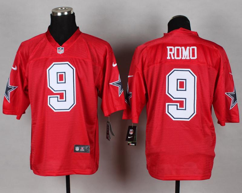 Dallas Cowboys 9 Tony Romo red 2014 nfl QB Nike Jerseys
