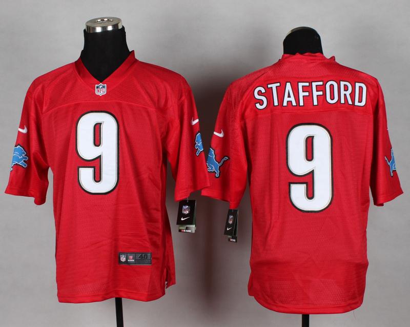 Detroit Lions 9 Matthew Stafford red 2014 nfl QB Nike Jerseys