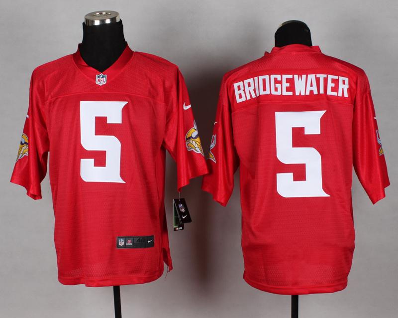 Minnesota Vikings 5 Briogewter red 2014 nfl QB Nike Jerseys