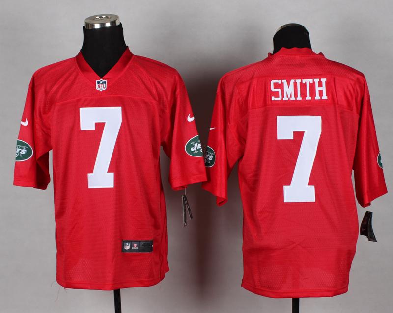 New York Jets 7 Smith red 2014 nfl QB Nike Jerseys