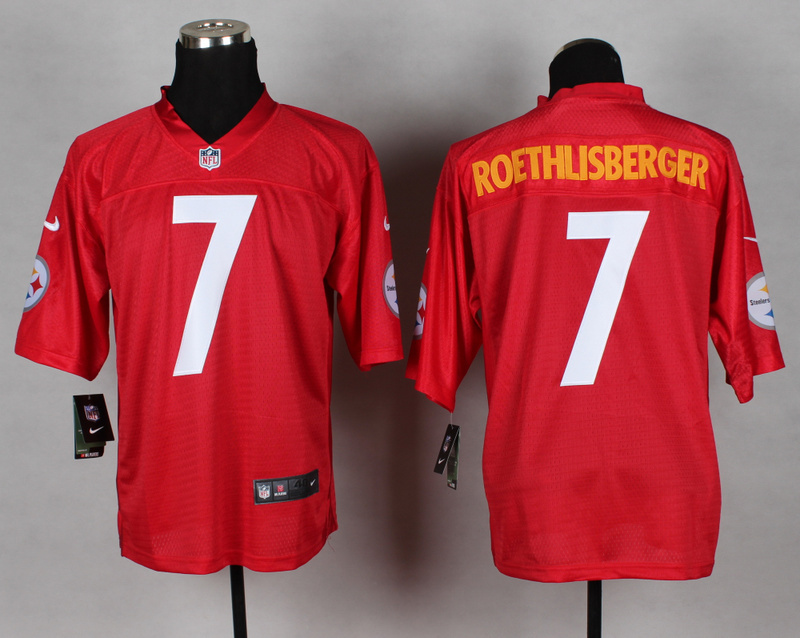 Pittsburgh Steelers 7 Ben Roethlisberger red 2014 nfl QB Nike Jerseys