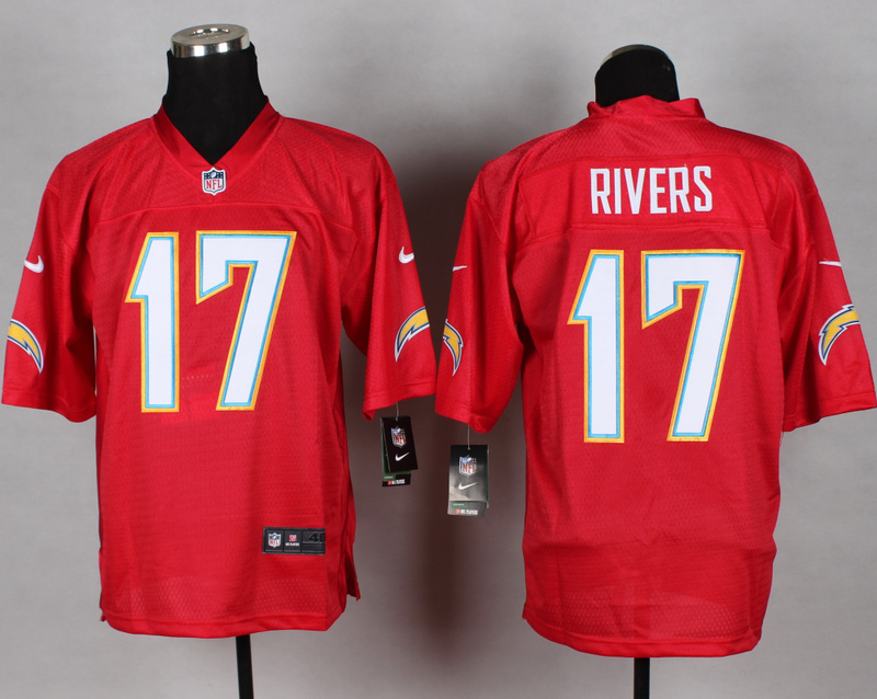 Los Angeles Chargers 17 Philip Rivers red 2014 nfl QB Nike Jerseys