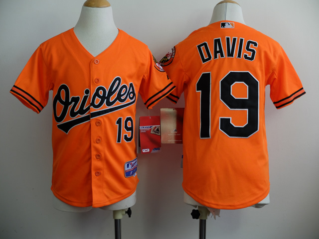 Youth MLB Baltimore Orioles 19 Chris Davis Orange 2014 Jerseys