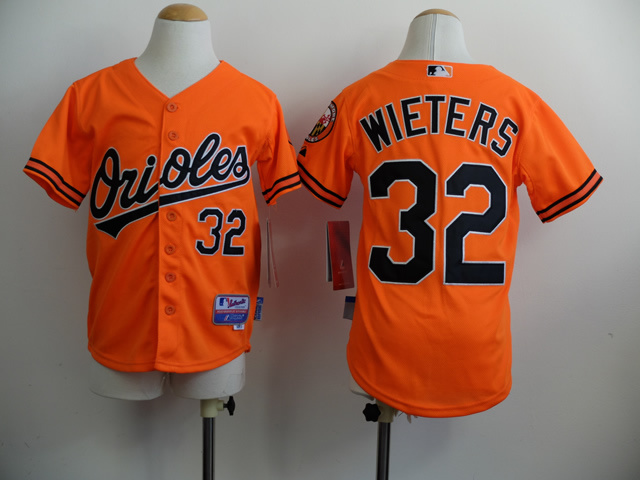 Youth MLB Baltimore Orioles 32 Matt Wieters Orange 2014 Jerseys