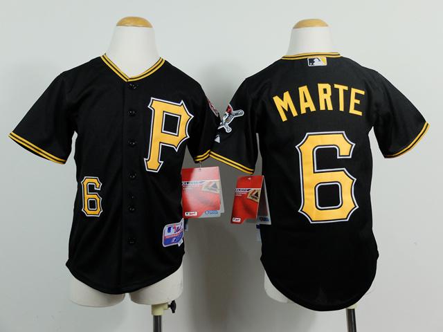 Youth MLB Pittsburgh Pirates 6 Starling Marte Black 2014 Jerseys