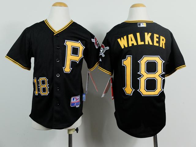 Youth MLB Pittsburgh Pirates 18 Neil Walker Black 2014 Jerseys