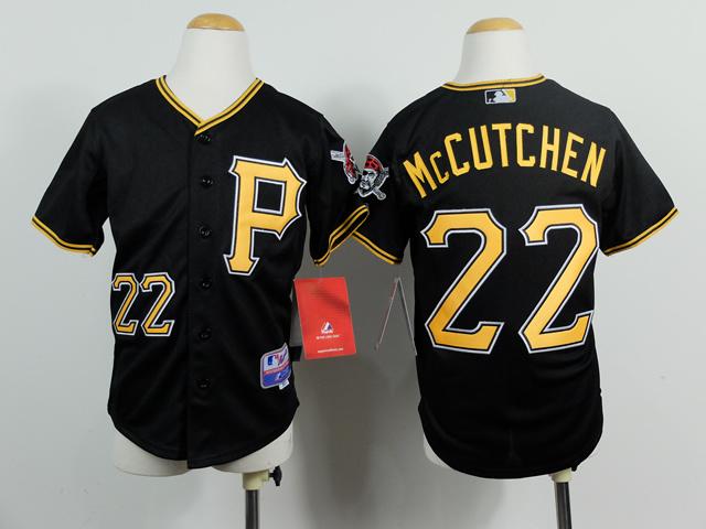 Youth MLB Pittsburgh Pirates 22 Adnrew McCutchen Black 2014 Jerseys