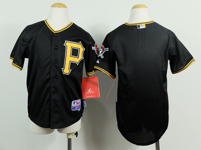 Youth MLB Pittsburgh Pirates Blank Black 2014 Jerseys