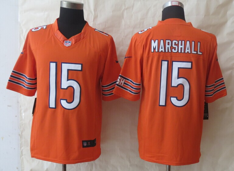 Chicago Bears 15 Marshall Orange New Nike Limited Jerseys