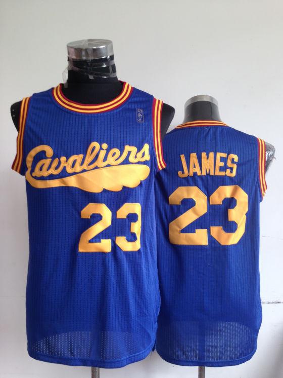 NBA Cleveland Cavaliers 23 Lebron James Blue Throwback Jerseys