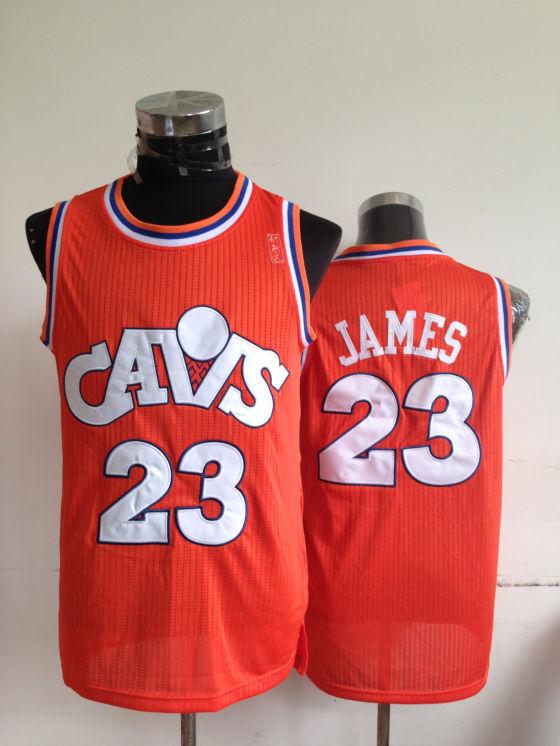 NBA Cleveland Cavaliers 23 Lebron James Orange Jerseys