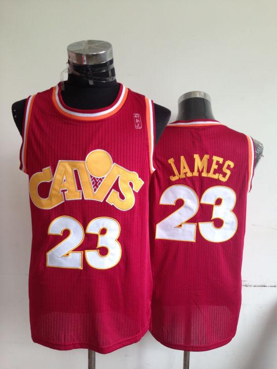 NBA Cleveland Cavaliers 23 Lebron James Red CS Jerseys