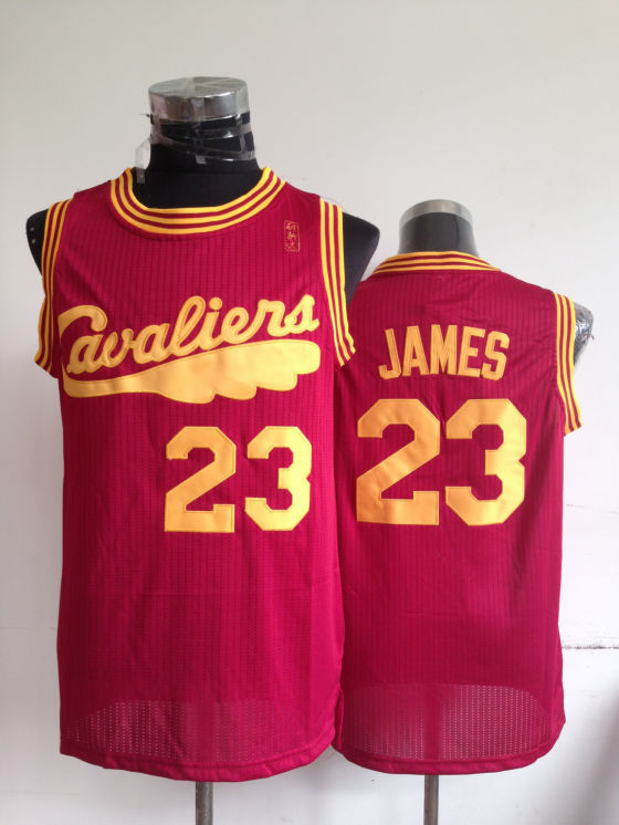 NBA Cleveland Cavaliers 23 Lebron James Red Throwback Jerseys