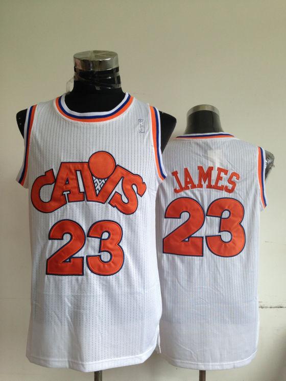 NBA Cleveland Cavaliers 23 Lebron James White Jerseys