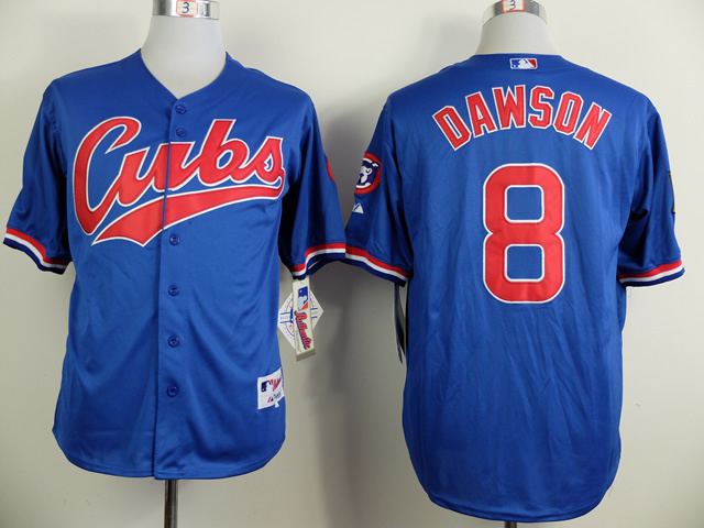 MLB Chicago Cubs 8 Andre Dawson Blue 1994 Turn The Clock Jersey