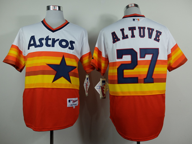 MLB Houston Astros 27 Jose Altuve 1979 Turn Back The Clock Jersey