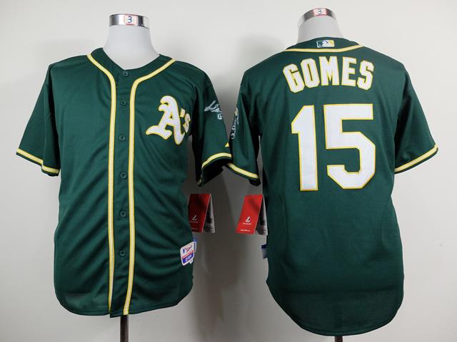 MLB Oakland Athletics 15 Gomes Green 2014 Jerseys