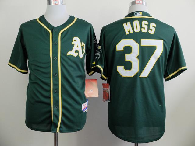 MLB Oakland Athletics 37 Moss Green 2014 Jerseys